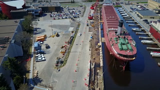 Drone video: Work on the Minnesota Slip