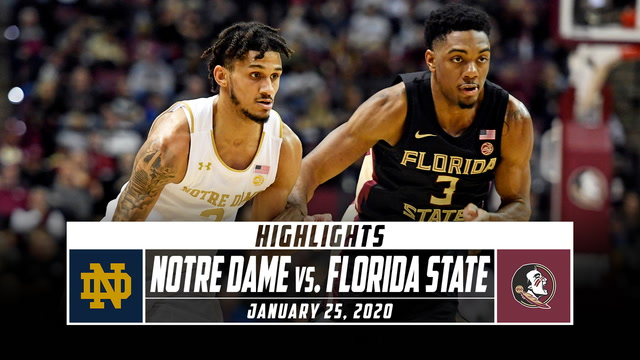 Notre Dame vs. No. 5 Florida State Basketball Highlights (2019-20)