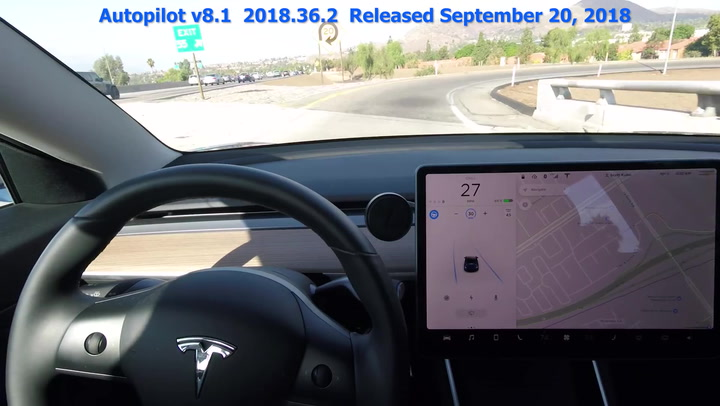 Video Shows Tesla Autopilot Getting Smarter Over the Course of 3 Months