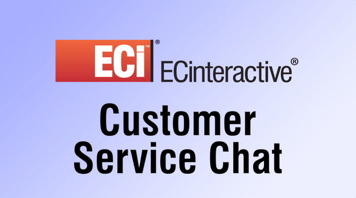 Customer Service Chat with ECinteractive Web Store