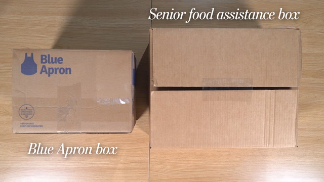 Trump's 'Blue Apron-type' Harvest Box vs. actual Blue Apron