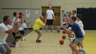 MHS Boys Basketball Coach Todd Neuendorf focuses on fundamentals at camp