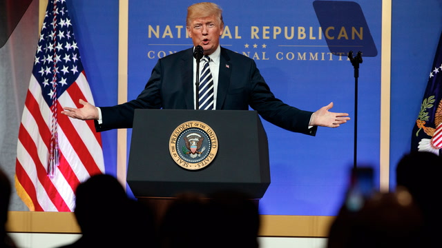 Watch Trump's full speech at the National Republican Congressional Committee March Dinner