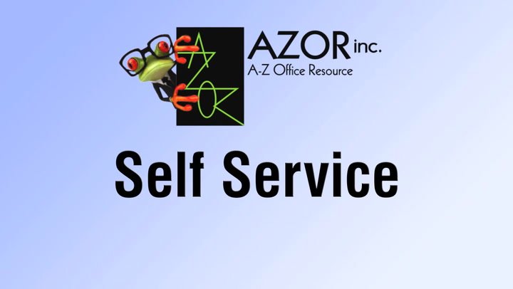 Self-Service on shop.AZORinc.com