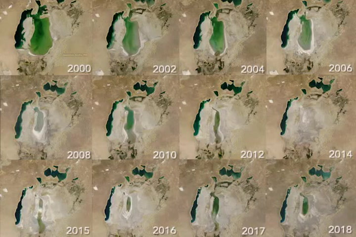 NASA Time-Lapse Shows a Huge Sea Rapidly Vanishing Over the Past 50 Years
