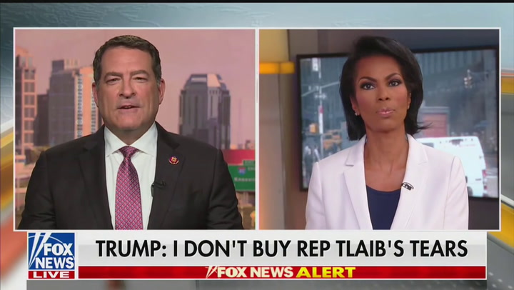 Fox's Harris Faulkner Quickly Moves On as GOP Rep. Says Tlaib 'Hates Jews More Than She Likes Her Grandmother'