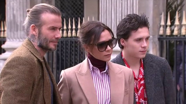 Beckhams front-row for star-studded Vuitton