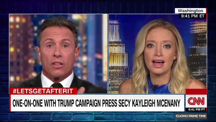 Trump Campaign Spokesperson Kayleigh McEnany Floors CNN's Chris Cuomo: Trump Has Never Lied to American People