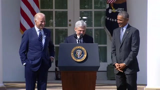 President Barack Obama (L) announces Judge Merrick Garland (R) as his nominee to the U.S. Supreme Court, in the White House Rose Garden in Washington, March 16, 2016. REUTERS/Kevin Lamarque