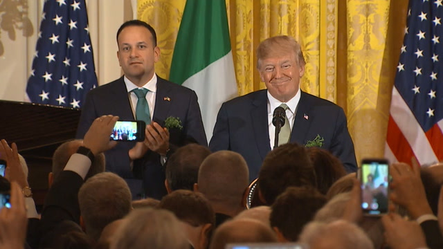 Watch Trump's full speech welcoming Irish prime minister at White House