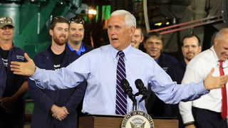 Vice President Mike Pence speaks in Duluth