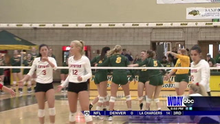 Bison falls to USD in Summit volleyball
