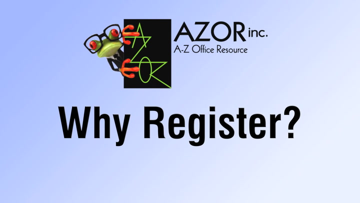 Why Register?  | shop.AZORinc.com