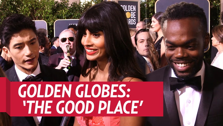Jameela Jamil and Ted Danson Hilariously Work Out on 'The Good Place' Set: Watch