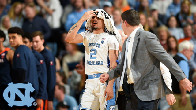 UNC's Cole Anthony Bloodied and Frustrated After Taking Elbow to Face vs. UVA