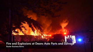 Fire and Explosions at Deans Auto Salvage