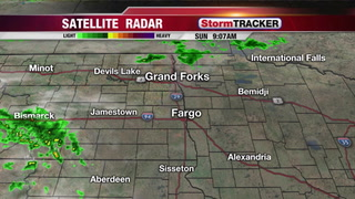 Tracking Light Showers this Afternoon