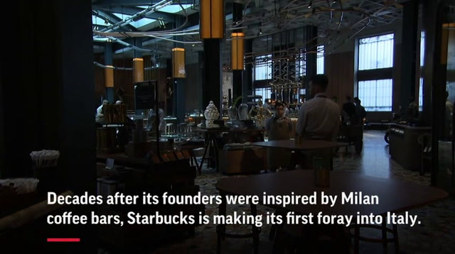 Starbucks' 1st Italian store has stiff competition