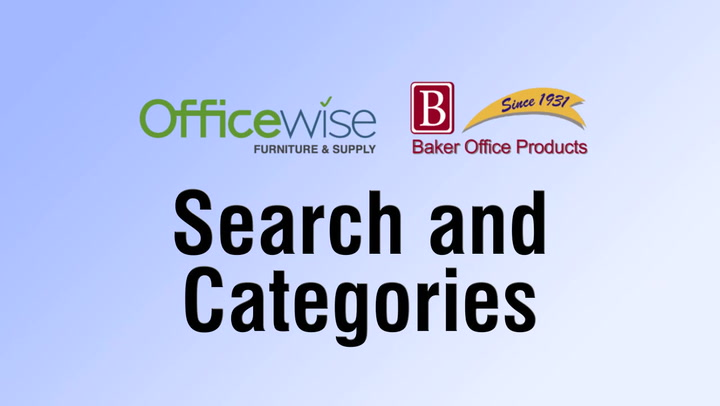 Search & Categories at shop.BakerOfficeProducts.com
