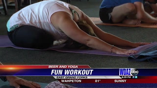 Beer offered at Grand Forks yoga class
