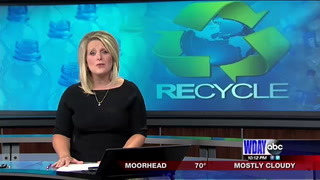 Mobile leaning center teaching locals about upcoming no sort recycling