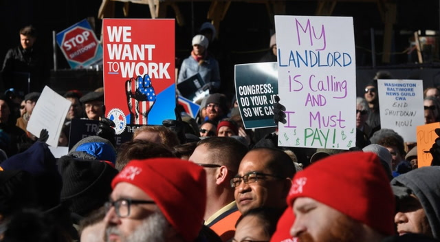 Furloughed employees rally against shutdown: 'Stop playing politics with our lives'