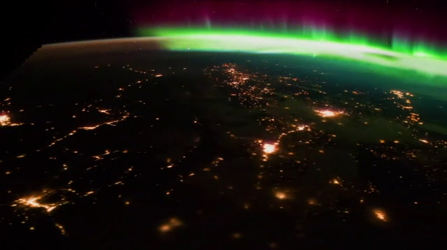 Amazing Time Lapse of Aurora Borealis From Space