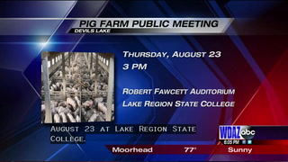 Public hearing set for proposed Devils Lake pig farm