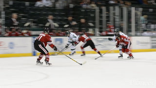 Hanna Moher (56) skates during a game earlier this season against St. Cloud State at the Sanford Center.