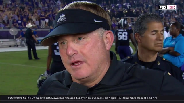 Gary Patterson on TCU's dominating win over Kansas