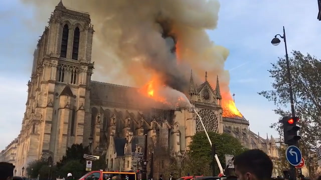 Notre Dame fire: Firefighters assess damage after blaze is extinguished