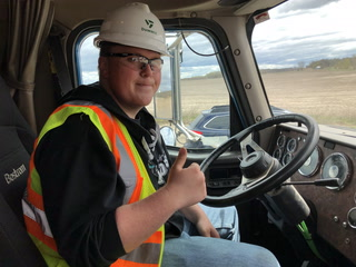 High school students get trucking