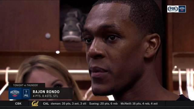 Rajon Rondo: 'We're going to continue to get better'
