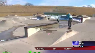 Many locals hit the skate parks as temps rise