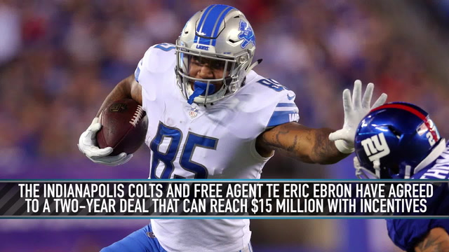 Eric Ebron Signs Two-Year Deal With Colts