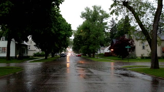 Rainy streets in Worthington