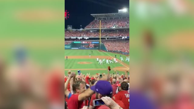 Nats fans celebrate team's wild-card victory