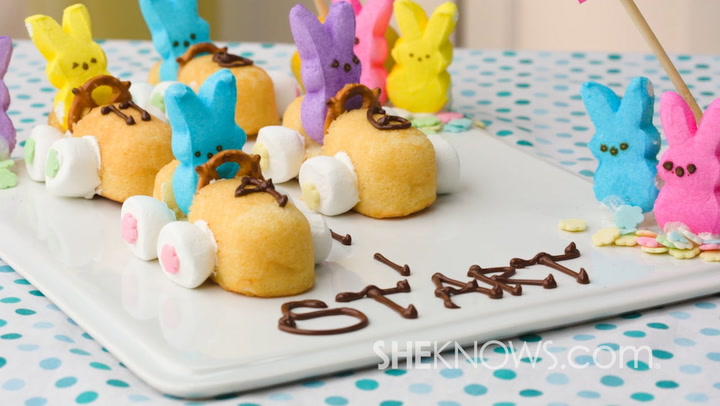 3 quick and easy easter bunny inspired treats bunny race cars recipe decorative easter desserts forumfinder Image collections