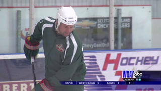 Former Wild player helps lead at Little Wild hockey camp
