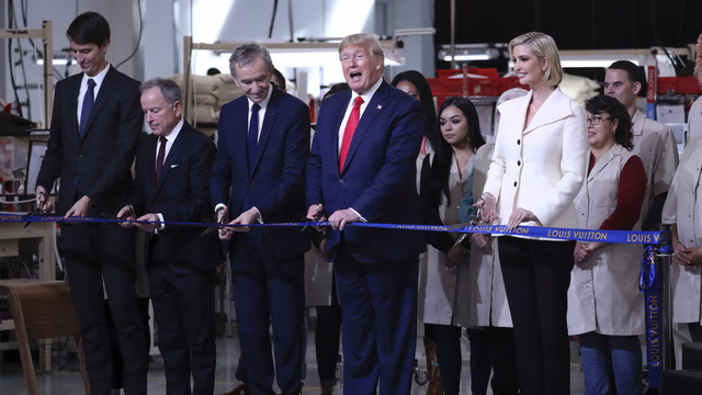 Trump attends grand opening of Louis Vuitton's Texas factory