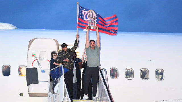 Washington Nationals return home from World Series win