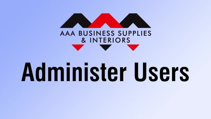 Administer Users at shop.AAAsolutions.com
