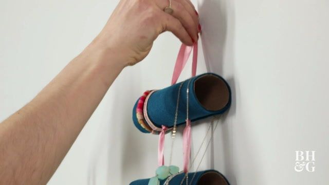 Recycled Felt Jewelry Holder