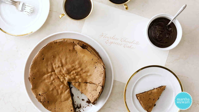 Flourless Chocolate Cake with Espresso