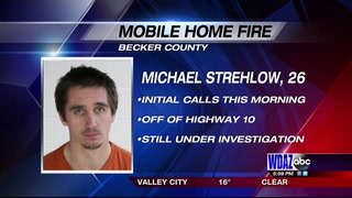 Man arrested in connection with mobile home fire in Becker County