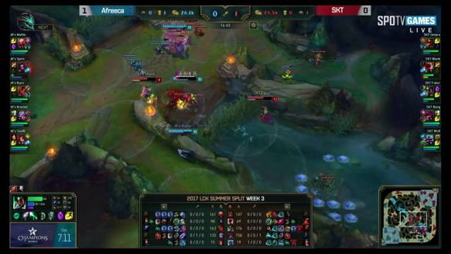 SKT vs. AFS Highlights Game 2 LCK SUMMER 2017 SK Telecom vs. Afreeca Freecs