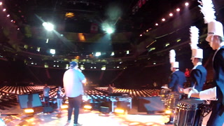 Marching Irish perform at WE Day MN