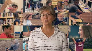 Bemidji Mayor Rita Albrecht participates in a public service announcement urging students to stay in school and the importance of regular school attendance.