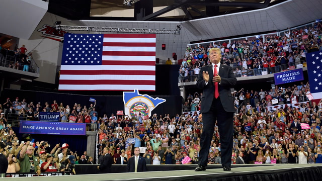 One rally, one hour, almost 30 Trumpian claims