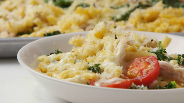 Chicken and Kale Pasta Bake